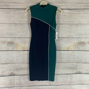 Glamour color block dress